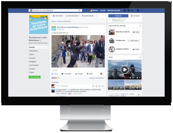 Création de live facebook pour Loire Atlantique Développement